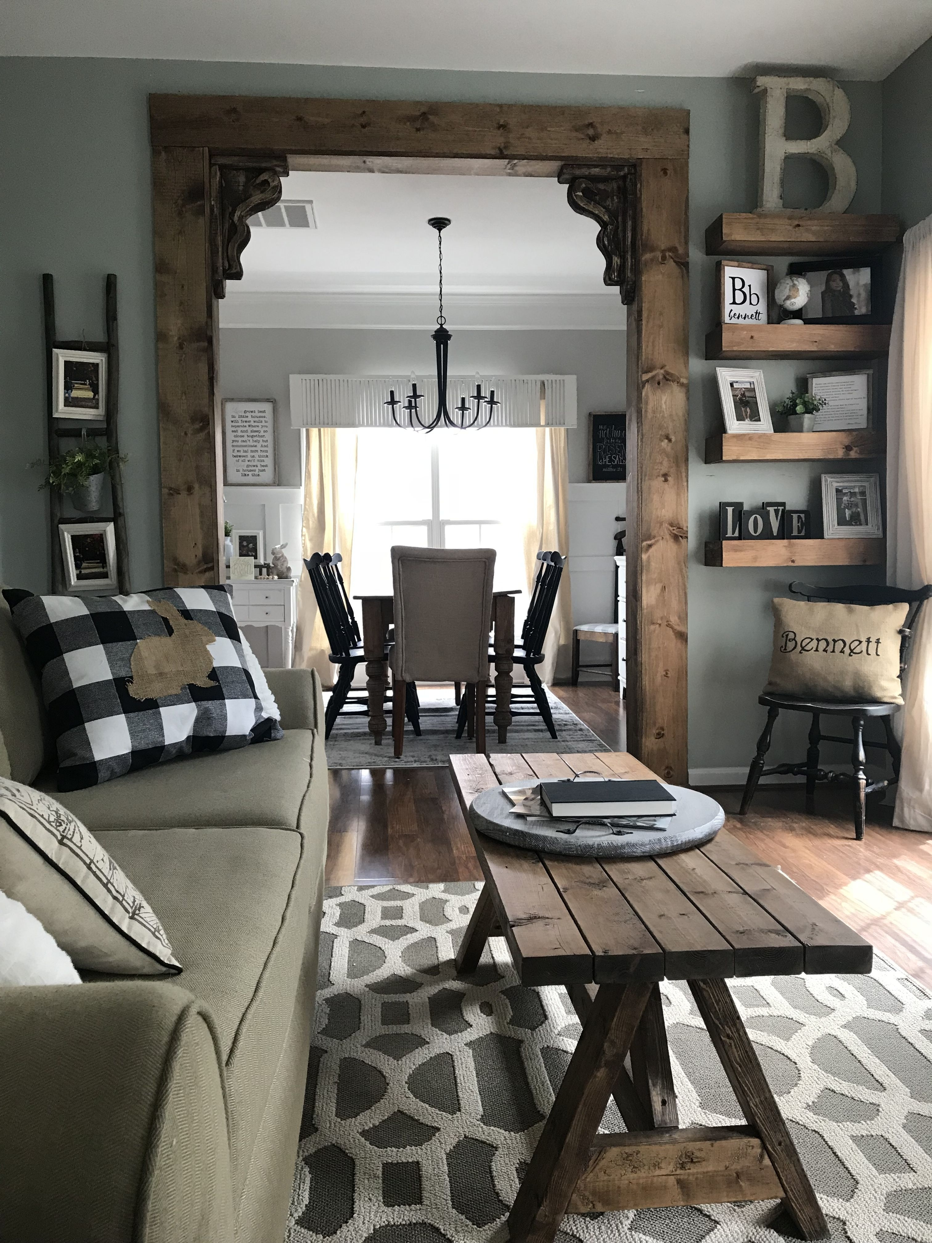 Dining Room Makeover. Wooden Entry With Antique Corbels | Dining Pertaining To Most Popular Combs 7 Piece Dining Sets With  Mindy Slipcovered Chairs (Photo 20 of 20)