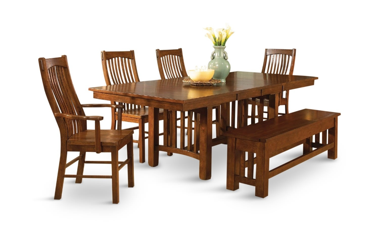 Dining Room Tables Oak – Baffueue With Most Recent Leon 7 Piece Dining Sets (View 4 of 20)