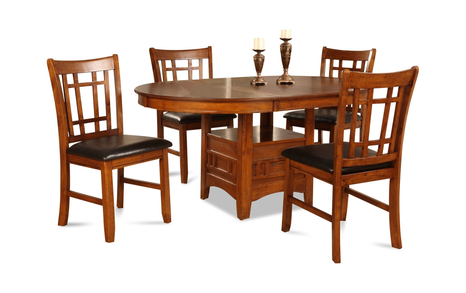 Dining Sets – Dining Room Tables & Chairs – Dock 86 Regarding Best And Newest Craftsman 5 Piece Round Dining Sets With Side Chairs (Image 9 of 20)