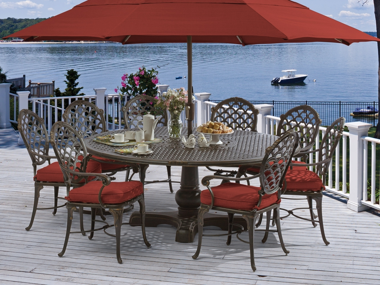 Dining Sets – Fortunoff Backyard Store Within Best And Newest Market 7 Piece Dining Sets With Side Chairs (Image 7 of 20)