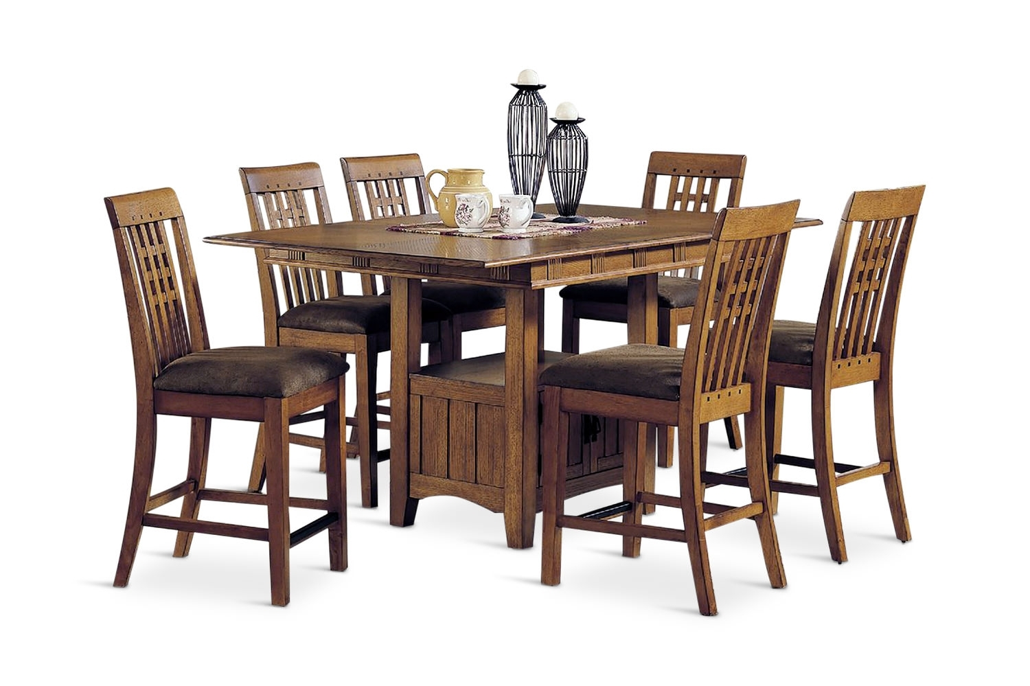 Dining Sets – Kitchen & Dining Room Sets – Hom Furniture Throughout Best And Newest Craftsman 7 Piece Rectangular Extension Dining Sets With Arm & Uph Side Chairs (Image 7 of 20)