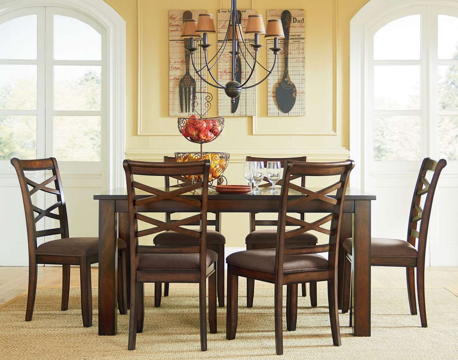 Dining Table & Six Chairs – Ffo Home | Dining Rooms | Pinterest Within Most Up To Date Market 7 Piece Dining Sets With Side Chairs (Image 8 of 20)