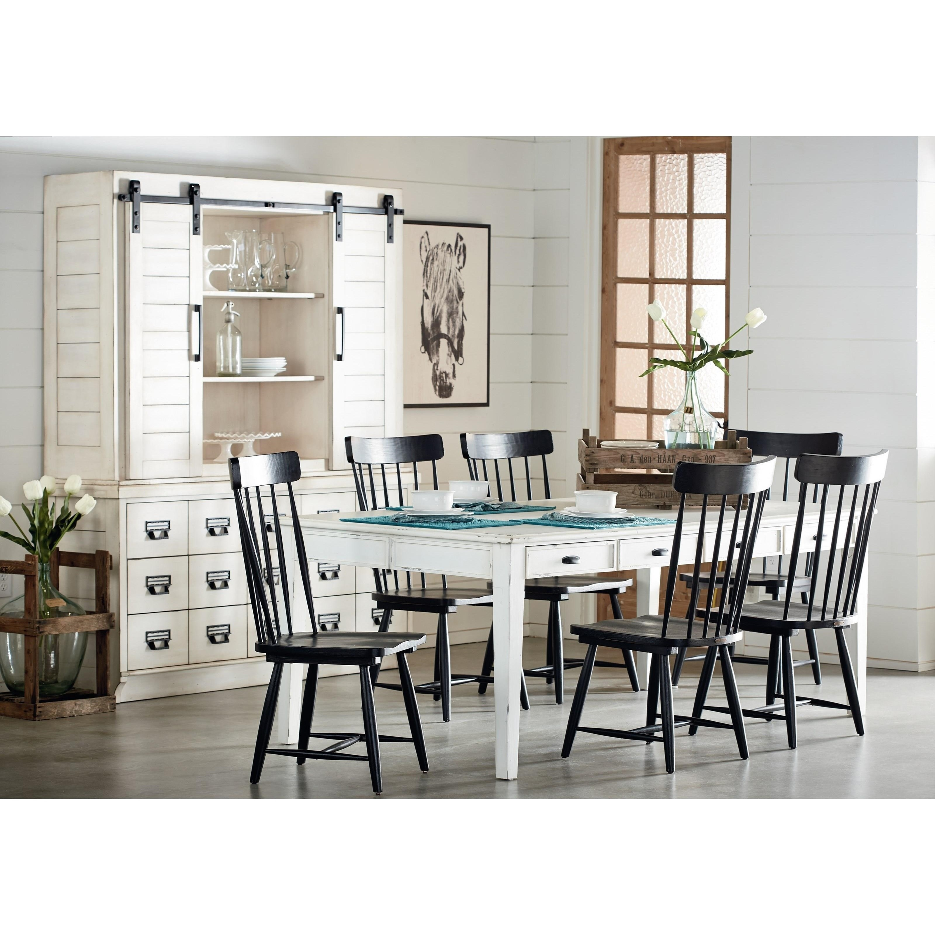 Dining Table With 8 Keeping Drawers And Tapering Legsmagnolia With 2017 Magnolia Home Keeping Dining Tables (Photo 7 of 20)