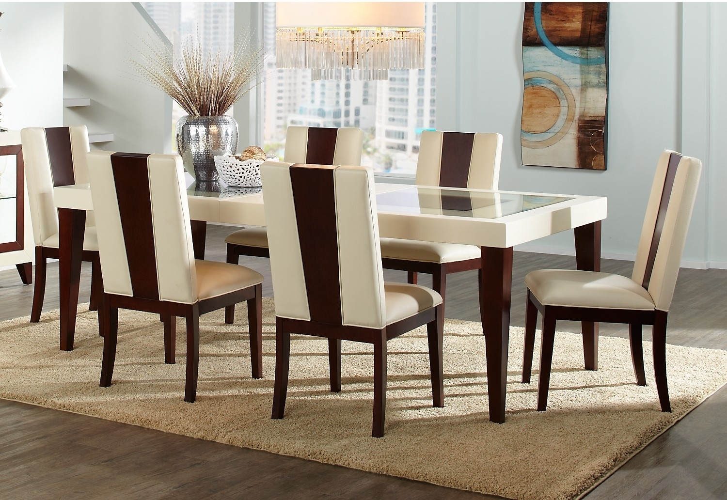 Dining Tables: Astounding Dining Table Set Canada Round Dining Table Intended For 2017 Leon 7 Piece Dining Sets (View 16 of 20)
