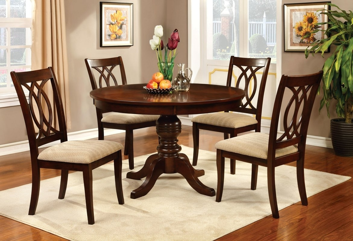 Dining Tables: Dining Room Table Sets Value City Dining Room Sets, 3 Throughout Current Macie 5 Piece Round Dining Sets (Image 9 of 20)