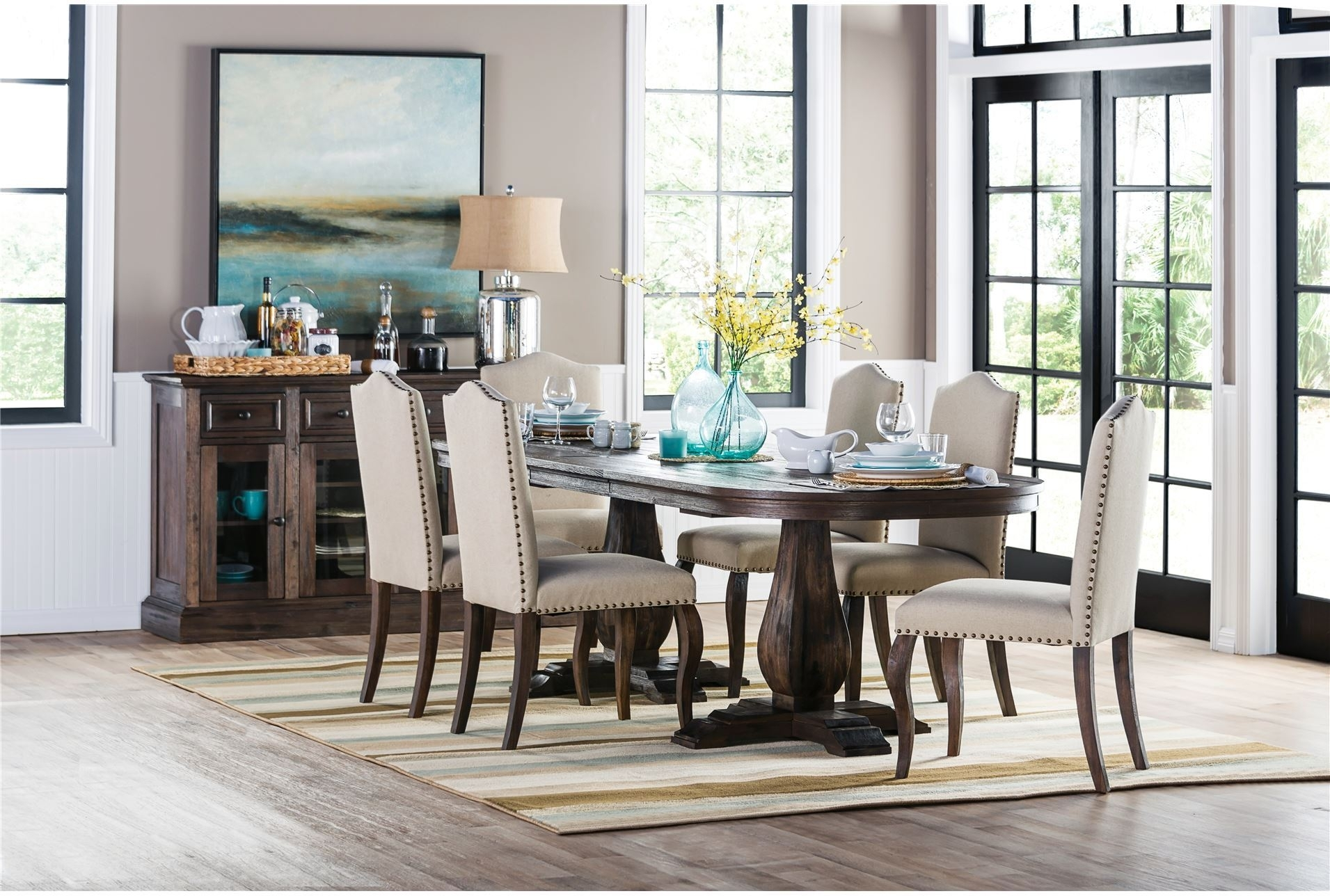 Dining Tables: Glamorous Living Spaces Dining Table Living Spaces With Regard To Most Popular Mallard Extension Dining Tables (View 19 of 20)