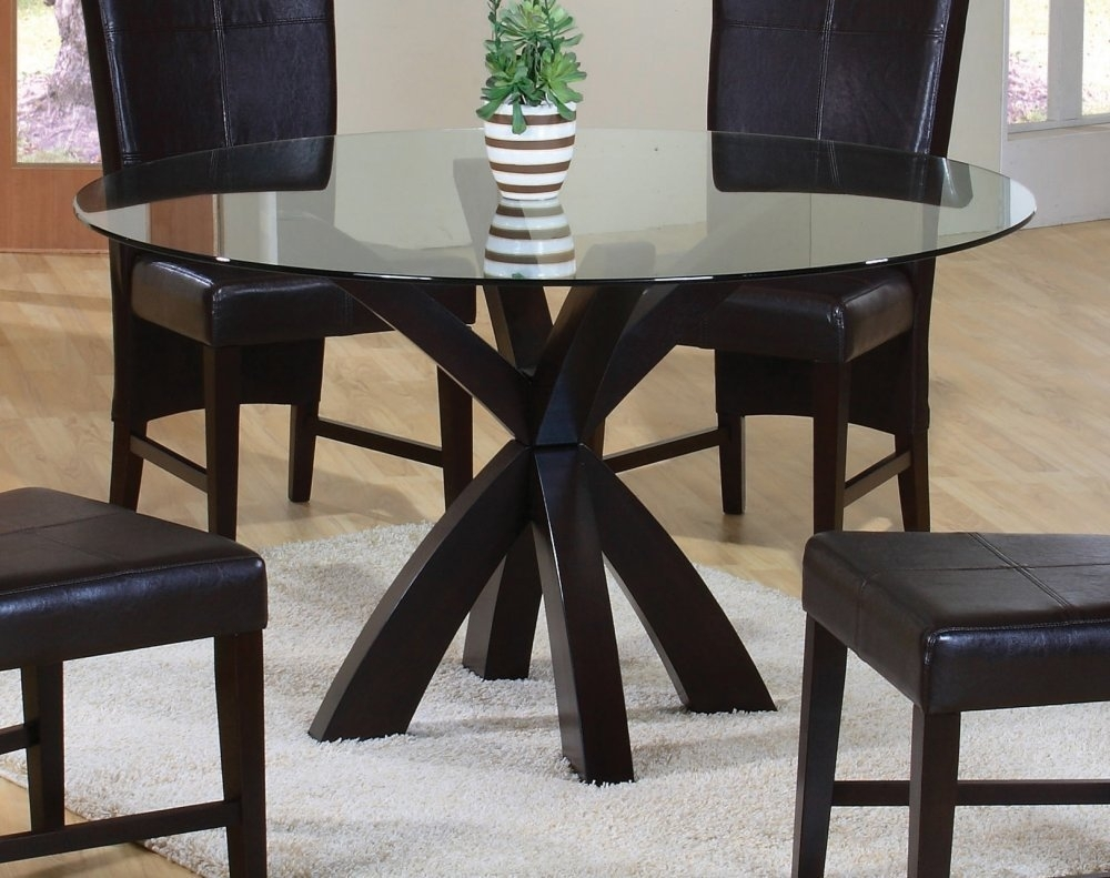 Dining Tables: Outstanding Black Round Dining Table Black Dining Intended For Latest Caira Black Round Dining Tables (Image 15 of 20)