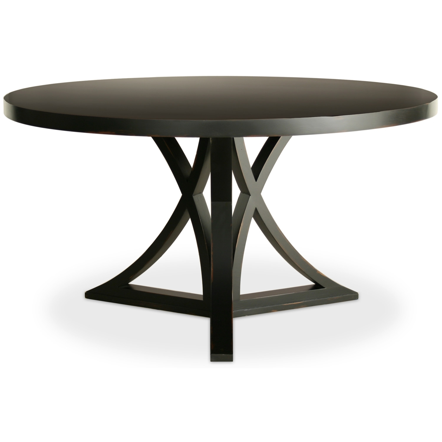 Dining Tables. Outstanding Black Round Dining Table: Black Round With Regard To Newest Caira Black Round Dining Tables (Photo 1 of 20)