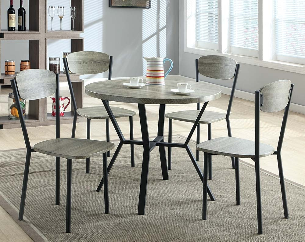 Discount Dining Room Sets & Kitchen Tables | American Freight In Most Up To Date Jaxon 5 Piece Round Dining Sets With Upholstered Chairs (Image 5 of 20)