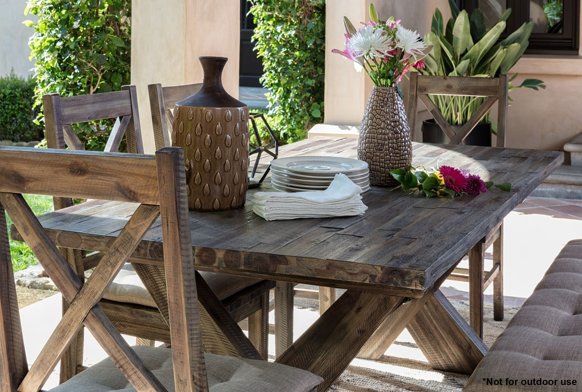 Diy Pallet Wood Outdoor Side Table Furniture With Most Recent Mallard Extension Dining Tables (Image 4 of 20)