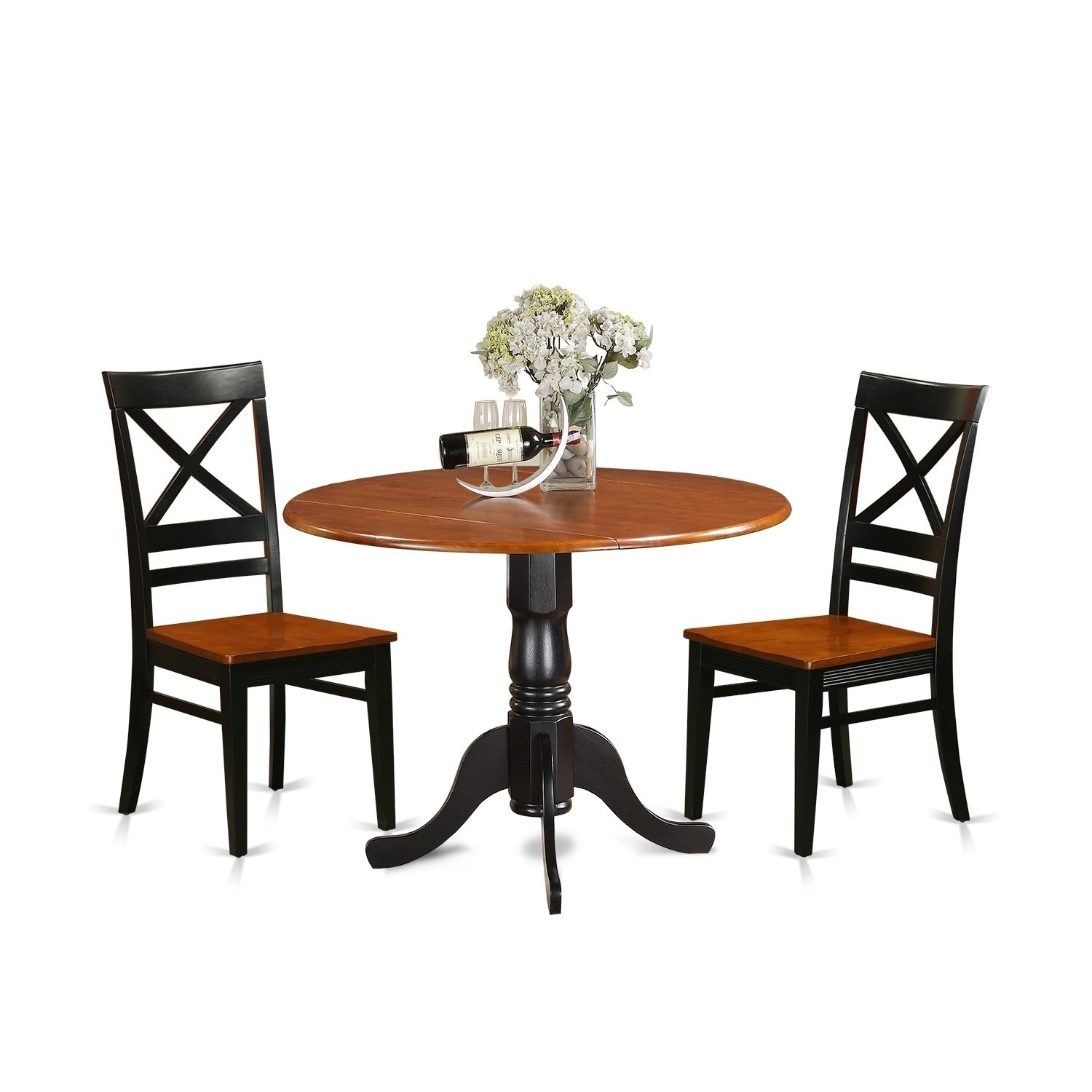Dlqu3 W 3 Pc Kitchen Table Set Dining Table And 2 Kitchen Chairs With Regard To Recent Caden 6 Piece Rectangle Dining Sets (Image 8 of 20)