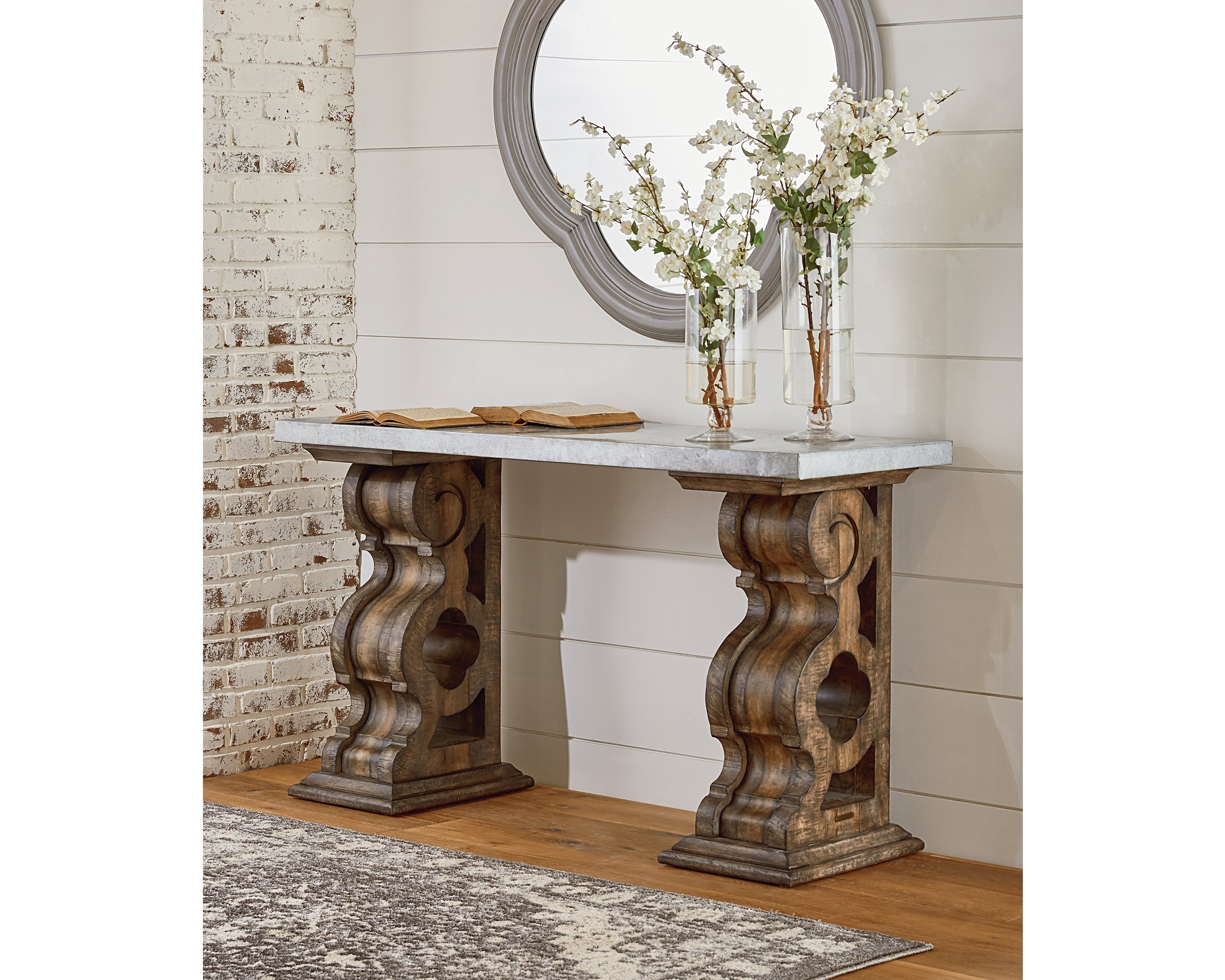 Double Pedestal Console Table – Magnolia Home Pertaining To Most Popular Magnolia Home Double Pedestal Dining Tables (Image 8 of 20)