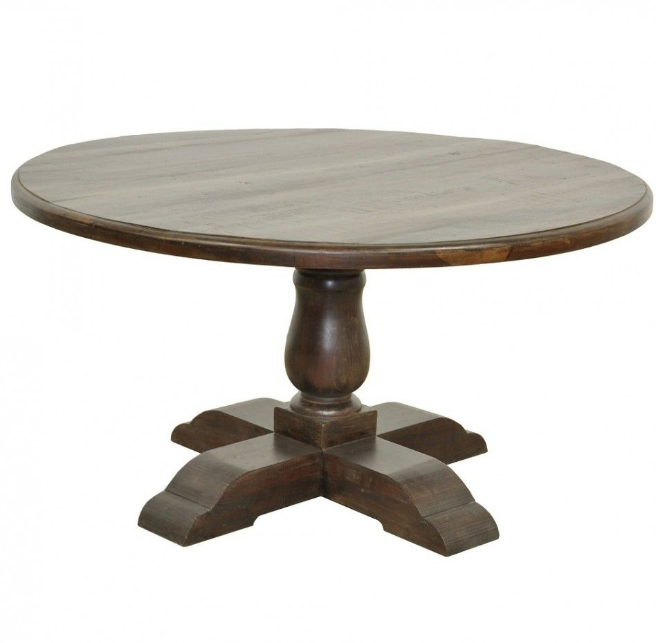 Easy On The Eye Round Wooden Pedestal Dining Table | Dining Table Pertaining To Most Recent Combs 48 Inch Extension Dining Tables (Image 15 of 20)