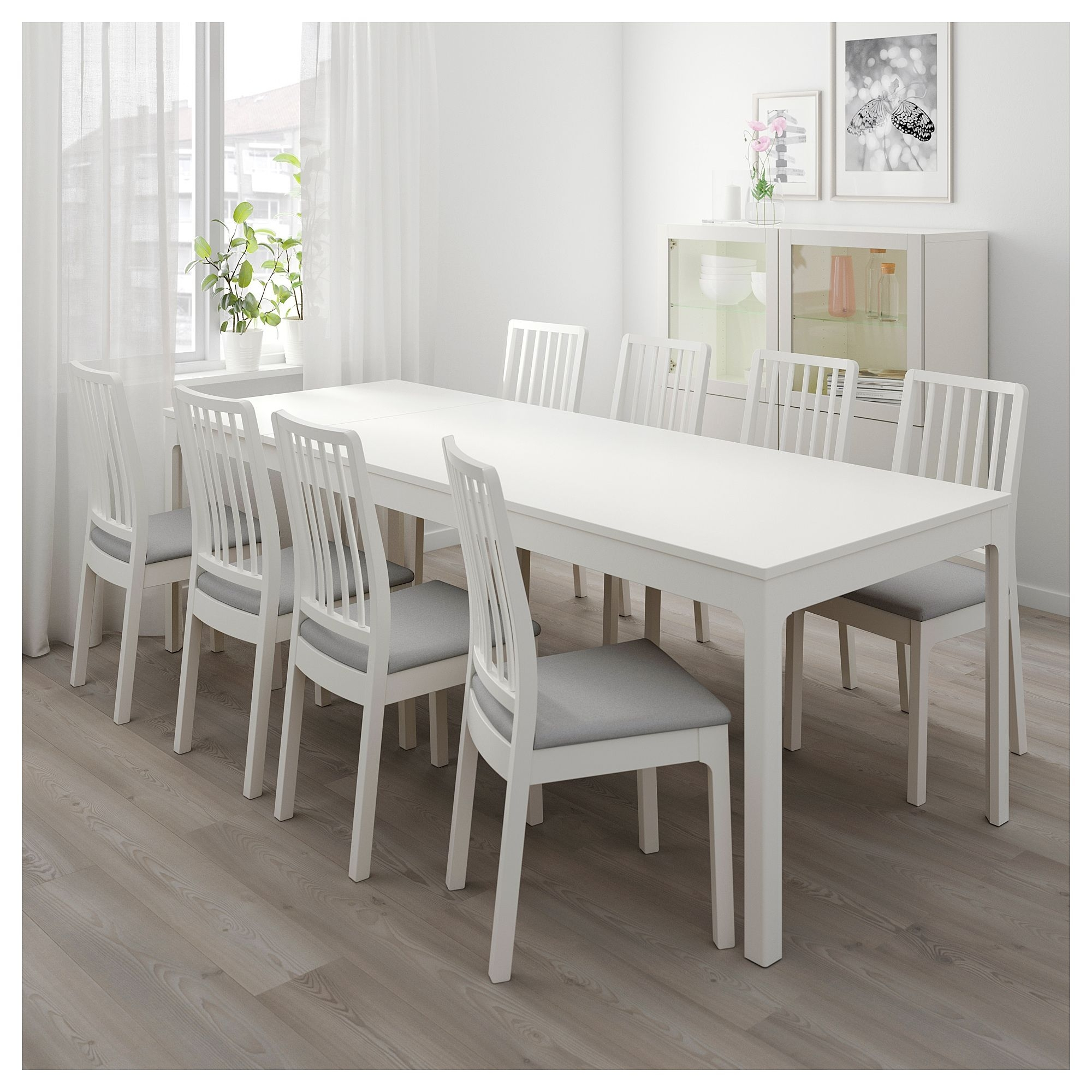Ekedalen Extendable Table, White | State House | Pinterest | Table For Newest Caira 7 Piece Rectangular Dining Sets With Diamond Back Side Chairs (Photo 14 of 20)