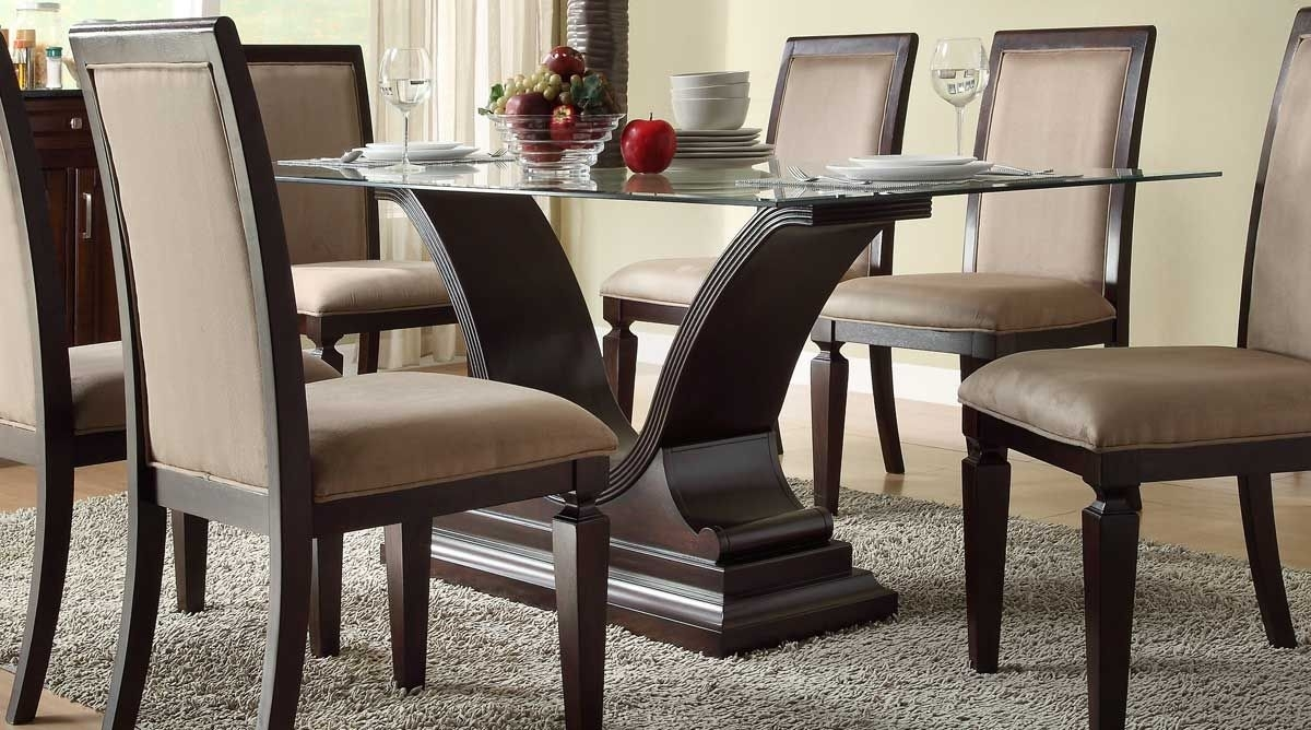 Elegant Dining Room Furniture For Sale | Neubertweb | Home With Regard To Most Up To Date Caira 7 Piece Rectangular Dining Sets With Diamond Back Side Chairs (View 7 of 20)