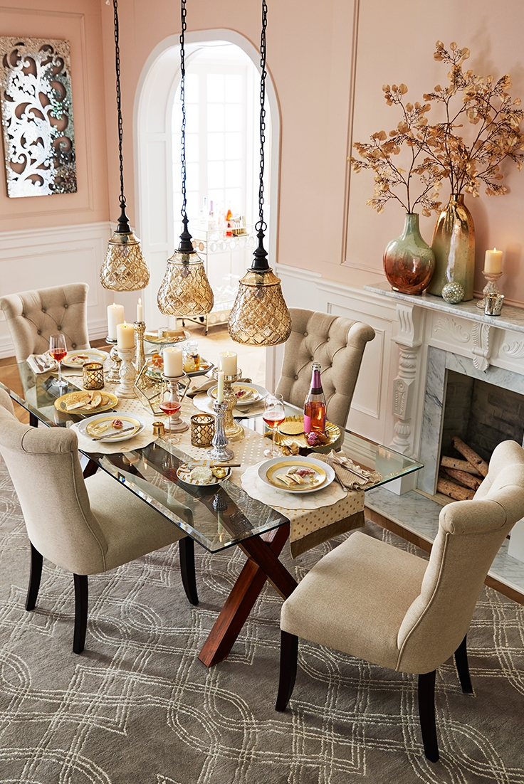 Elegant Touches Add Up To A Thanksgiving Dinner That Dazzles. Start Within Current Helms 7 Piece Rectangle Dining Sets With Side Chairs (Photo 17 of 20)