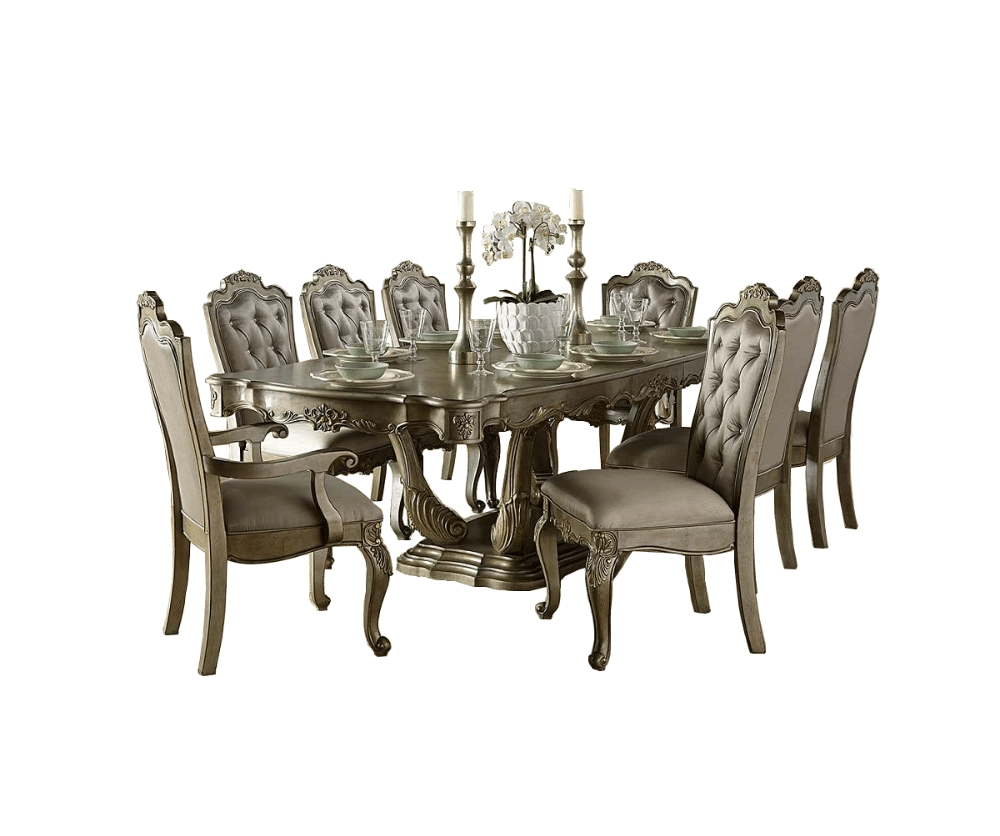 Eliana 9Pc. Dining Set – Decorium Furniture Pertaining To 2018 Jaxon 6 Piece Rectangle Dining Sets With Bench & Uph Chairs (Photo 17 of 20)