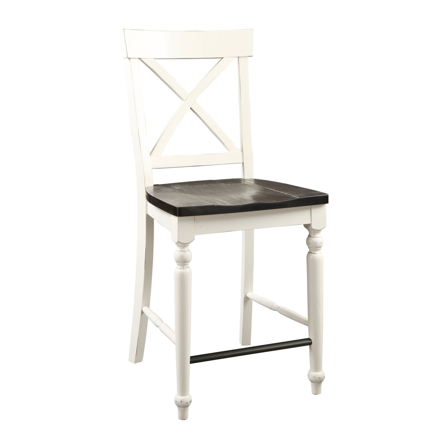 Emerald Home Furnishings Mountain Retreat X Back Barstool With Wood With Most Recently Released Jaxon Grey 5 Piece Extension Counter Sets With Wood Stools (Photo 18 of 20)