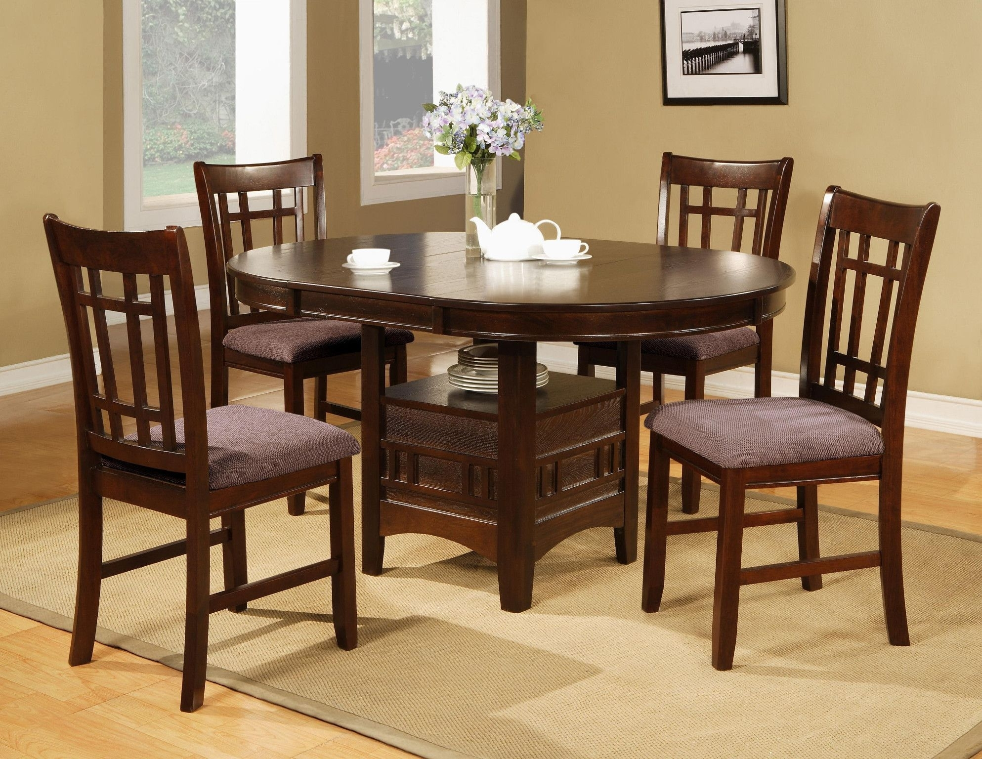 Empire 5 Piece Dinette Table And 4 Chairs $568.00 Table $349.00 42 Inside Best And Newest Craftsman 5 Piece Round Dining Sets With Uph Side Chairs (Photo 8 of 20)