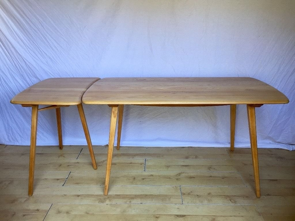 Ercol Vintage Plank Dining Table And Extention Extension | In Regarding Most Popular Norwood Rectangle Extension Dining Tables (Image 2 of 20)