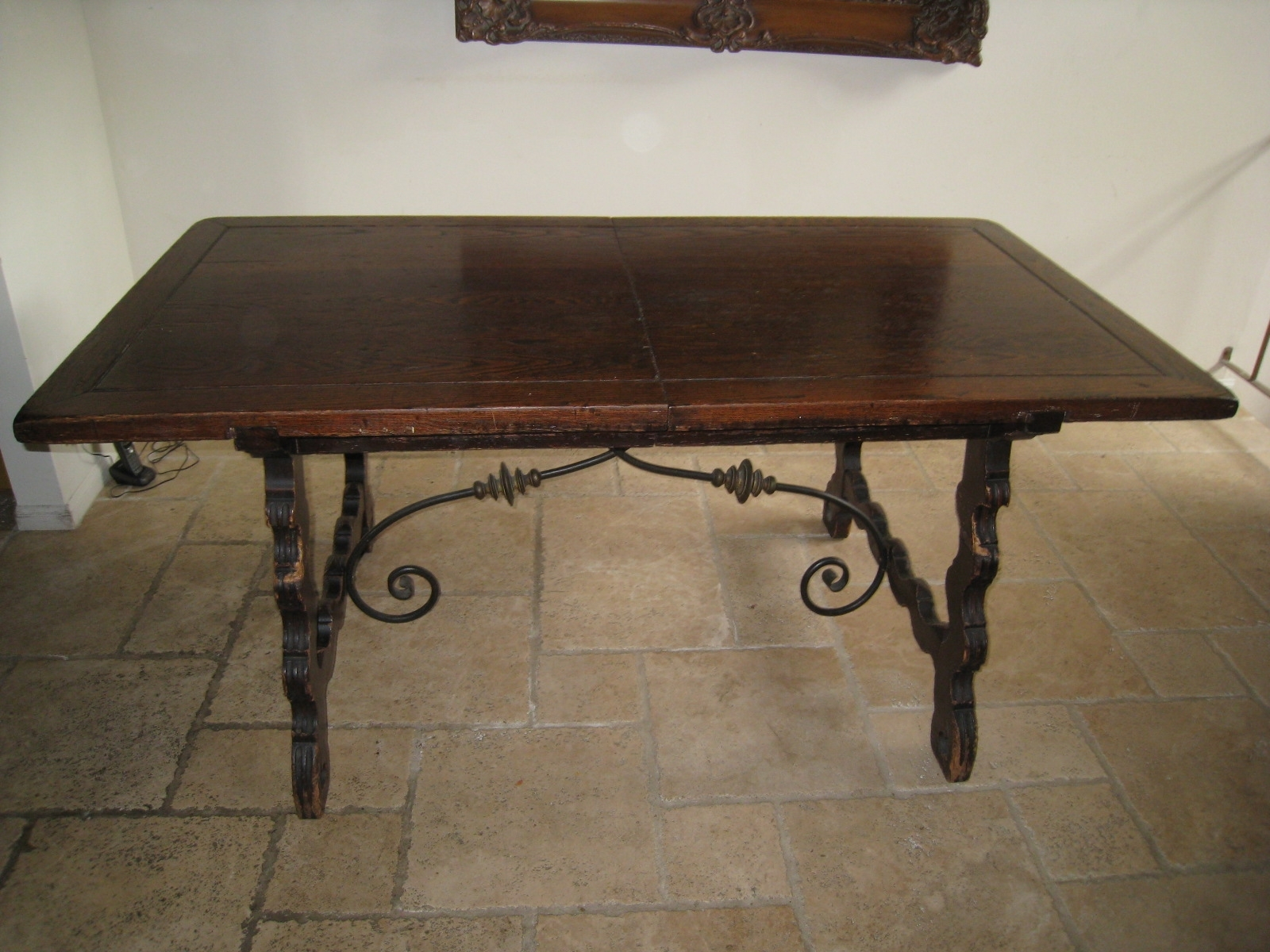 Exquisite 1920's Dining Table With 6 Chairs « Fantastic Liquidation For Newest Iron And Wood Dining Tables (View 18 of 20)