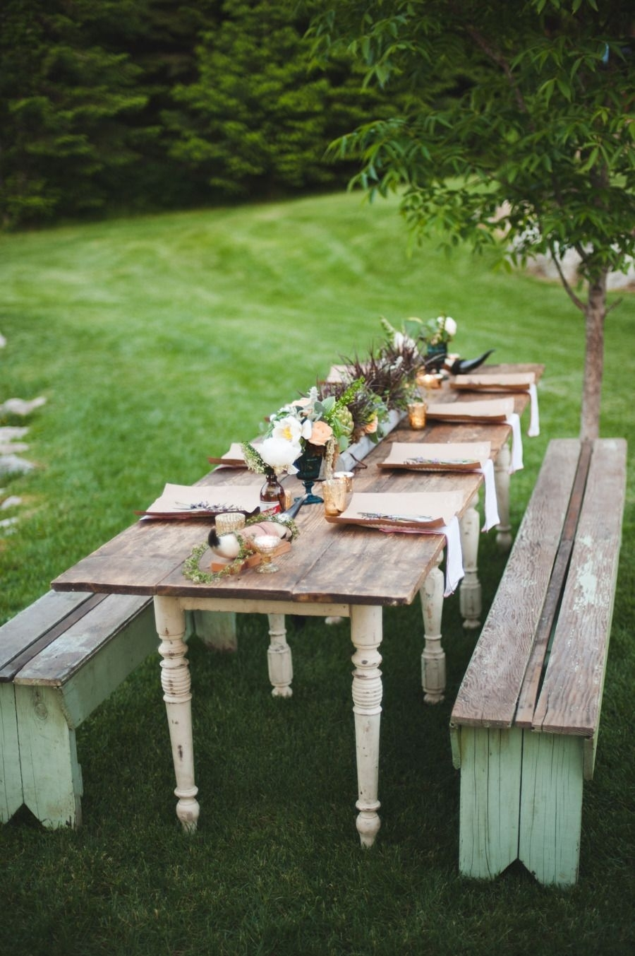 Farm To Table Entertaining | Diy: Wannabe Martha Stewart | Pinterest In Newest Bale Rustic Grey Dining Tables (Image 10 of 20)