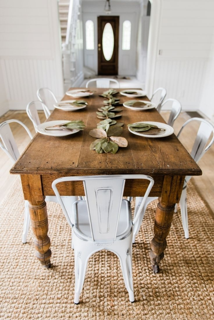 Farmhouse Dining Table Ideas For Cozy, Rustic Look | Farmhouse Regarding Most Recently Released Farm Dining Tables (Image 7 of 20)