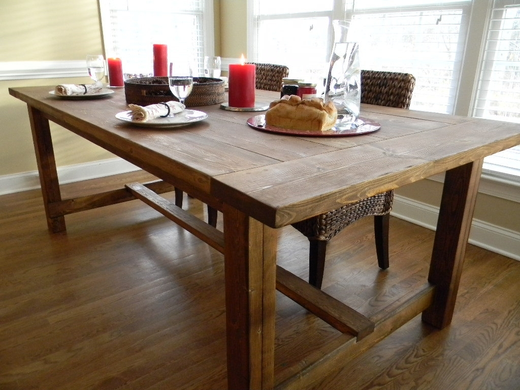 Farmhouse Dining Tables – Farmhouse Dining Table Decorating And In Recent Farm Dining Tables (Image 8 of 20)