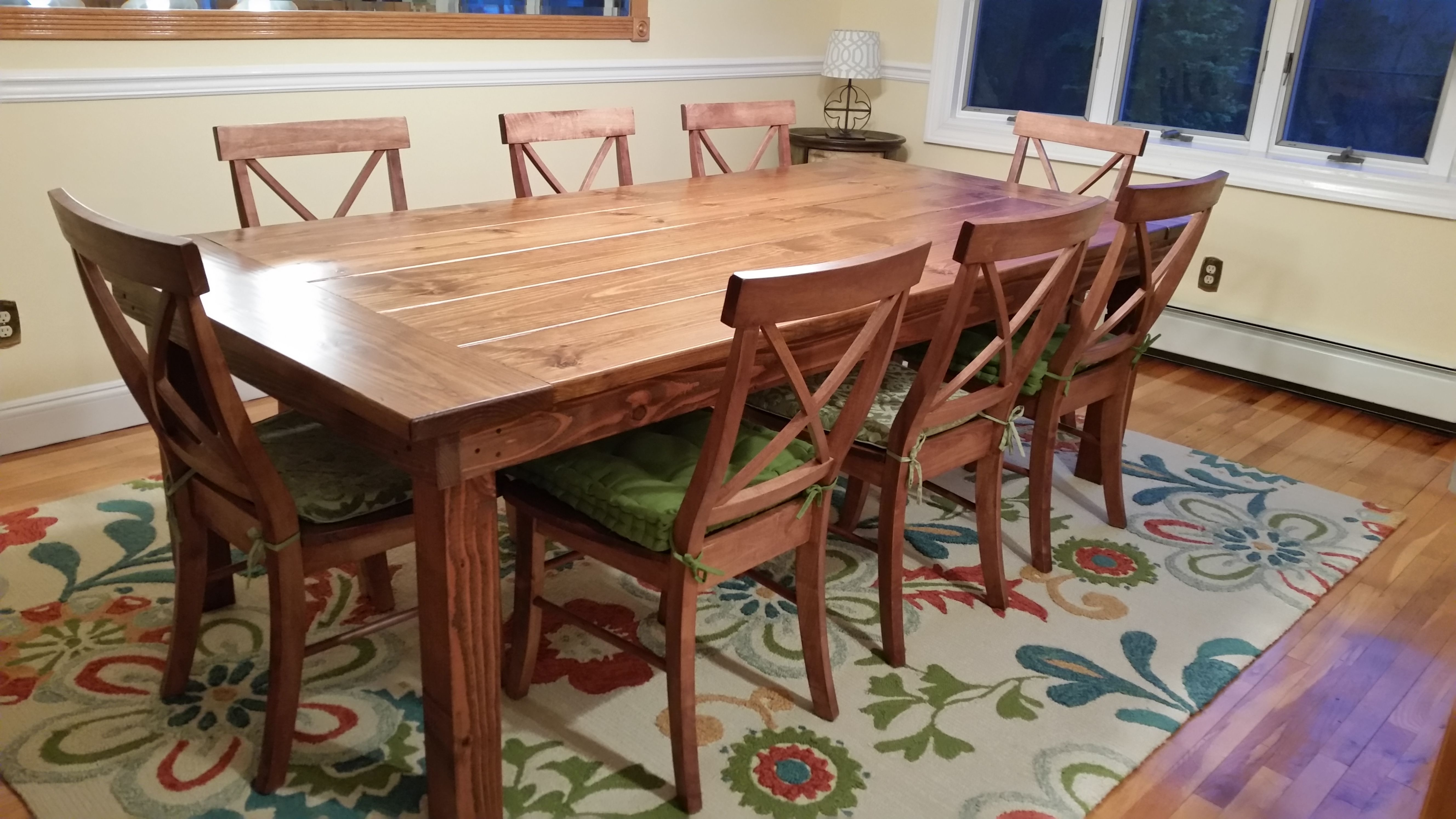 Farmhouse Table | Chairs | Pinterest | Farmhouse Table, Farmhouse With Regard To Current Norwood 7 Piece Rectangular Extension Dining Sets With Bench & Uph Side Chairs (Image 5 of 20)