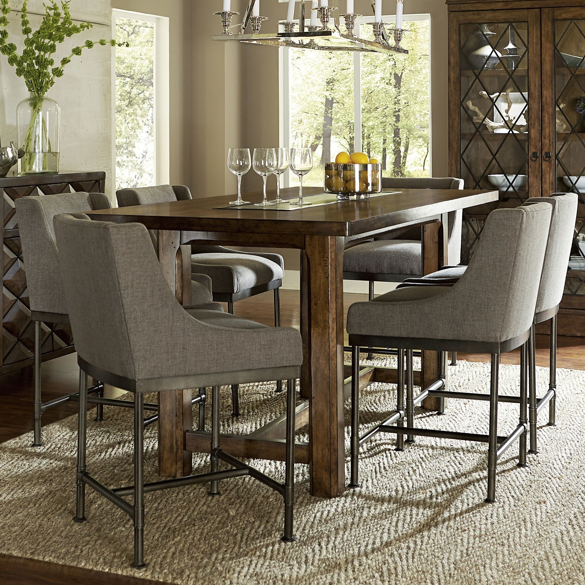 Features:  Style: Eclectic.  Style: Huston's Arroyo.  Material: Echo With Recent Helms 6 Piece Rectangle Dining Sets (Photo 11 of 20)