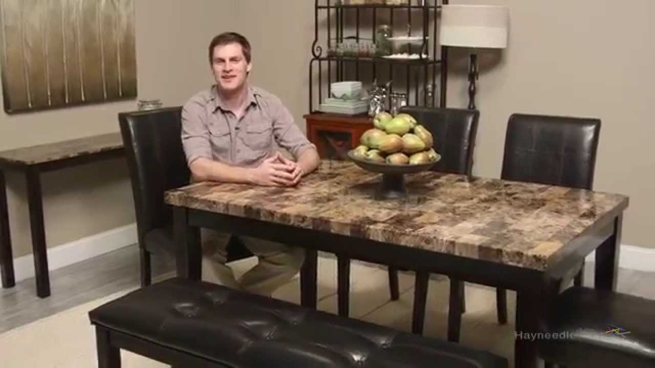 Finley Home Palazzo 6 Piece Dining Set With Bench – Youtube In Most Current Palazzo 3 Piece Dining Table Sets (Image 7 of 20)