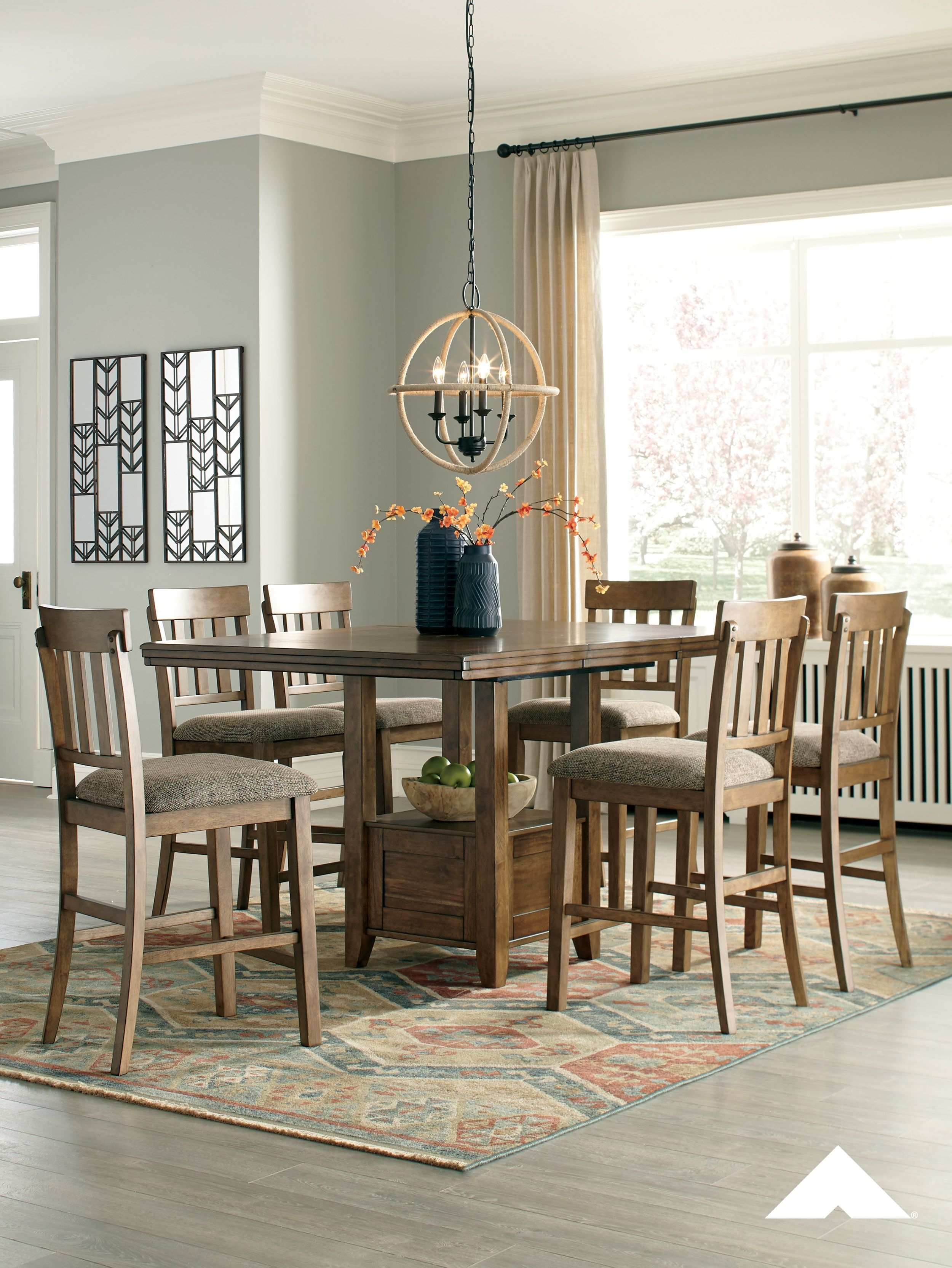 Flaybern Rectangular Dining Room Set| Dreaming Of An Expansive Table In Most Recently Released Craftsman 7 Piece Rectangle Extension Dining Sets With Uph Side Chairs (Image 12 of 20)