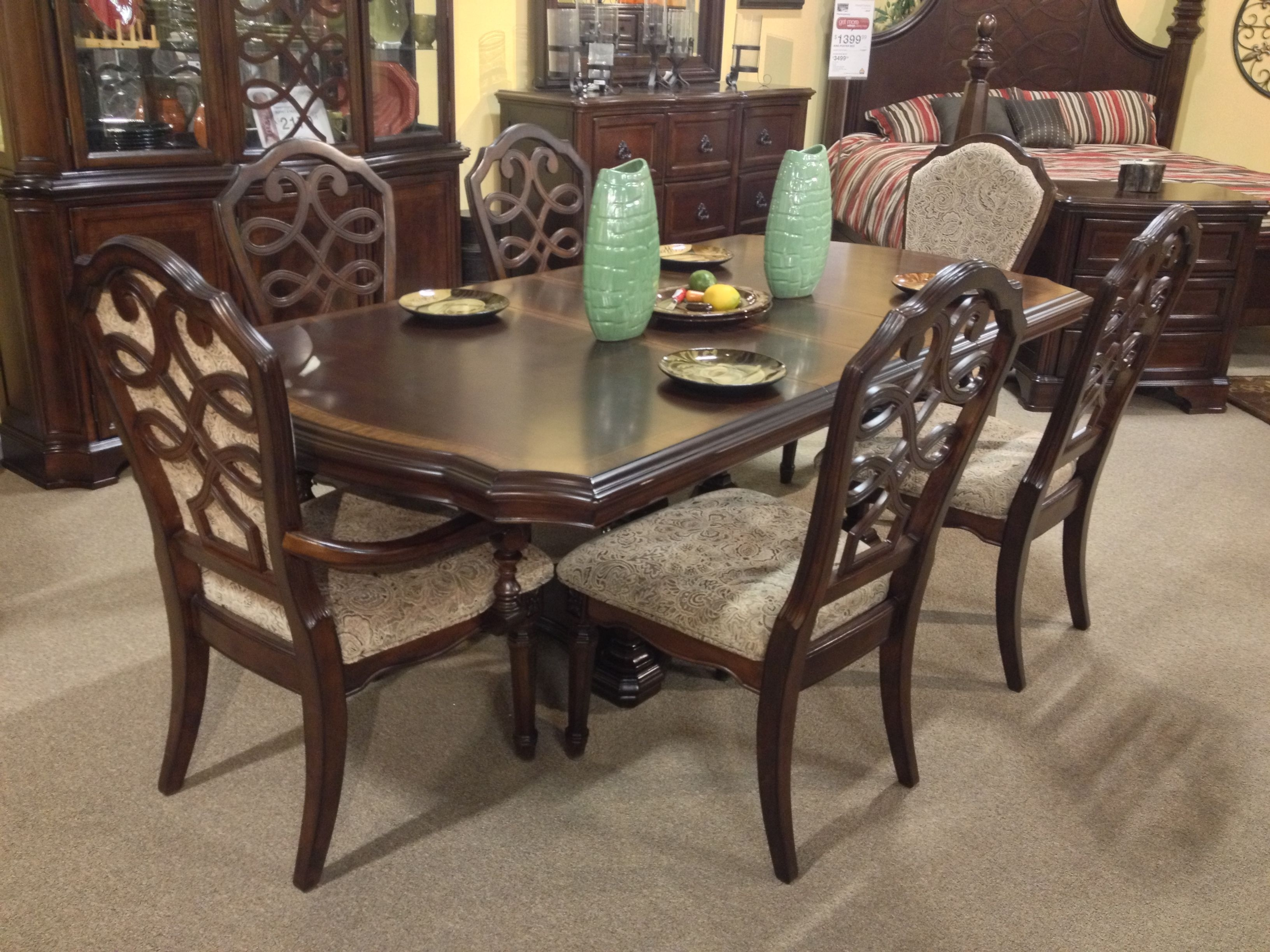 Flemingsburg 7 Piece #dining Room Set Ashley #furniture In Throughout Most Current Laurent 7 Piece Rectangle Dining Sets With Wood Chairs (View 6 of 20)
