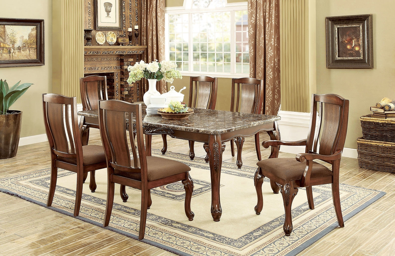 Fleur De Lis Living Choe 7 Piece Dining Set | Wayfair For Best And Newest Candice Ii 7 Piece Extension Rectangle Dining Sets (Image 12 of 20)