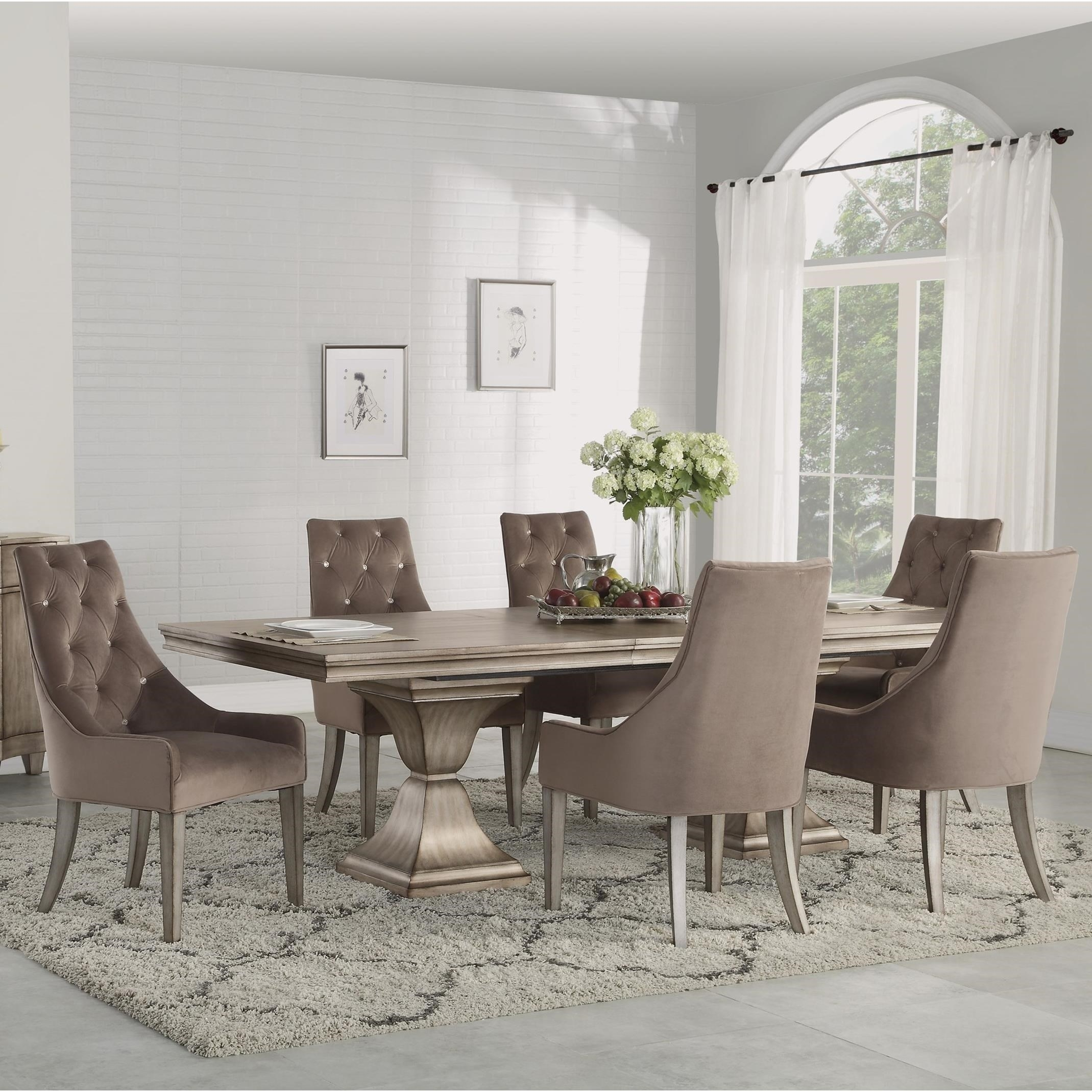 Flexsteel Wynwood Collection Vogue 7 Piece Rectangular Dining Set Pertaining To Best And Newest Market 7 Piece Counter Sets (Image 15 of 20)
