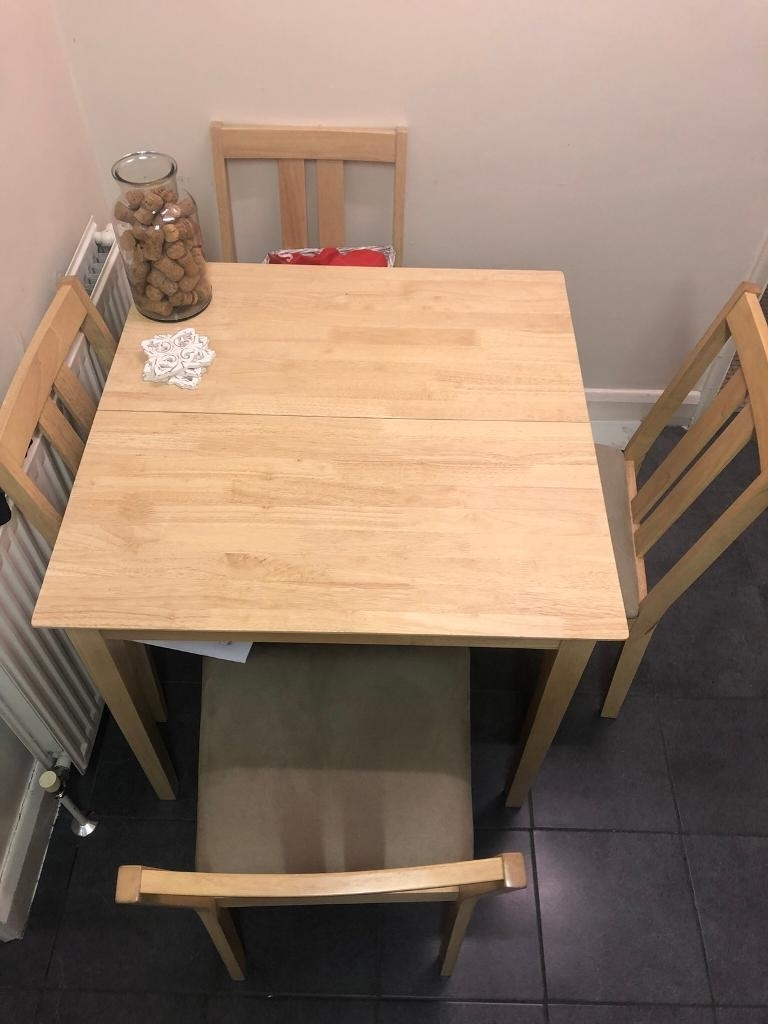 Folding Table And 4 Chairs | In Norwood, London | Gumtree For Most Recent Norwood Rectangle Extension Dining Tables (Image 3 of 20)