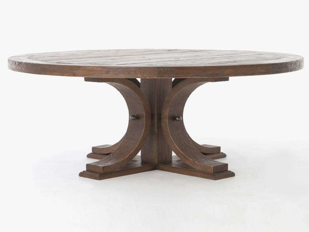 Furniture: 60 Round Dining Table New Adorable Dining Room Furniture Inside Recent Magnolia Home Double Pedestal Dining Tables (Photo 20 of 20)