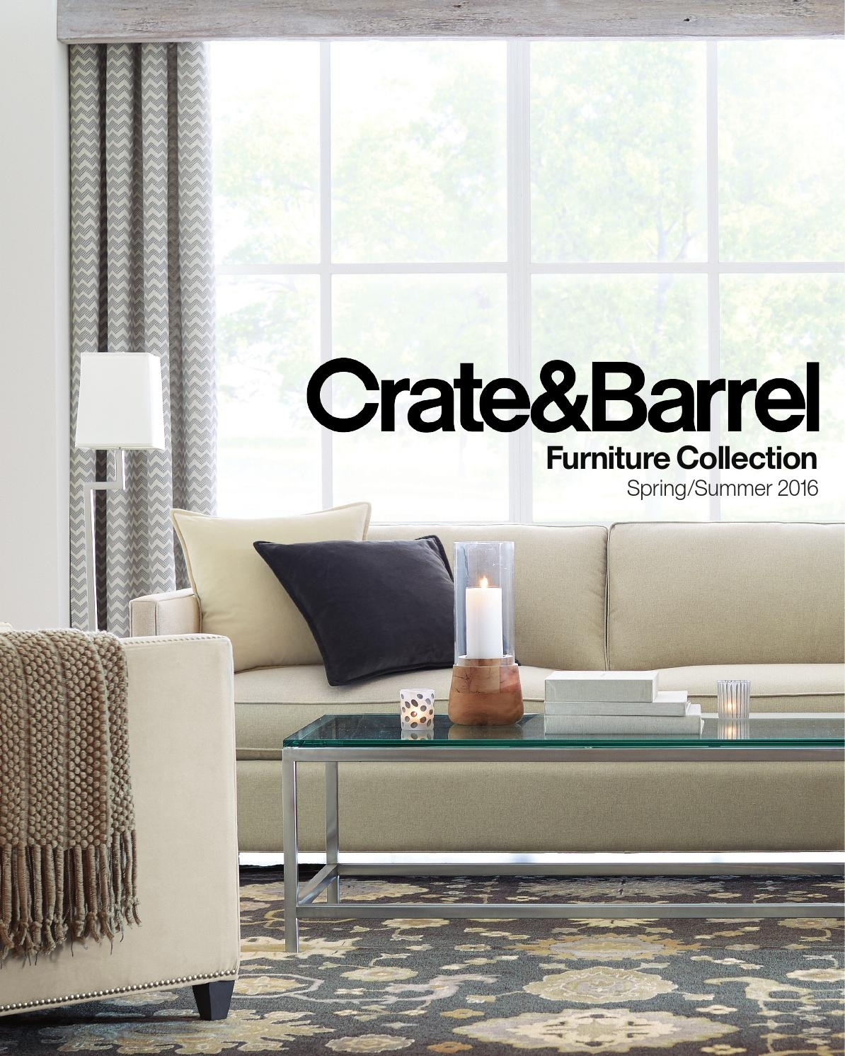 Furniture Resource Guide Spring Summer 2016Crate And Barrel Throughout Best And Newest Bale Rustic Grey 7 Piece Dining Sets With Pearson White Side Chairs (Photo 8 of 20)