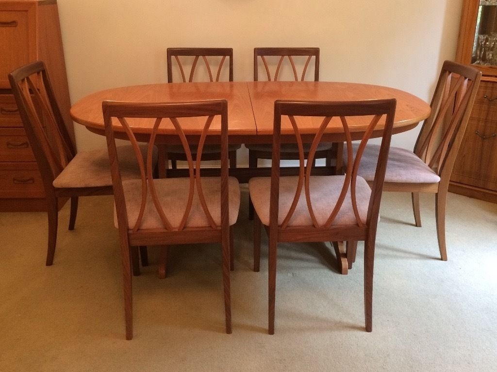 G Plan, Teak, Extending Dining Table And 6 Chairs (Image 6 of 20)
