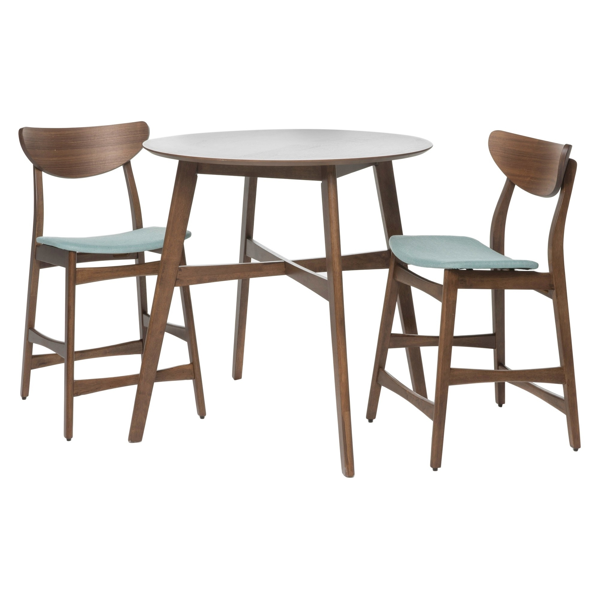 Gavin Counter Height Dining Set – Natural Walnut/mint (Green Within Recent Gavin Dining Tables (View 14 of 20)