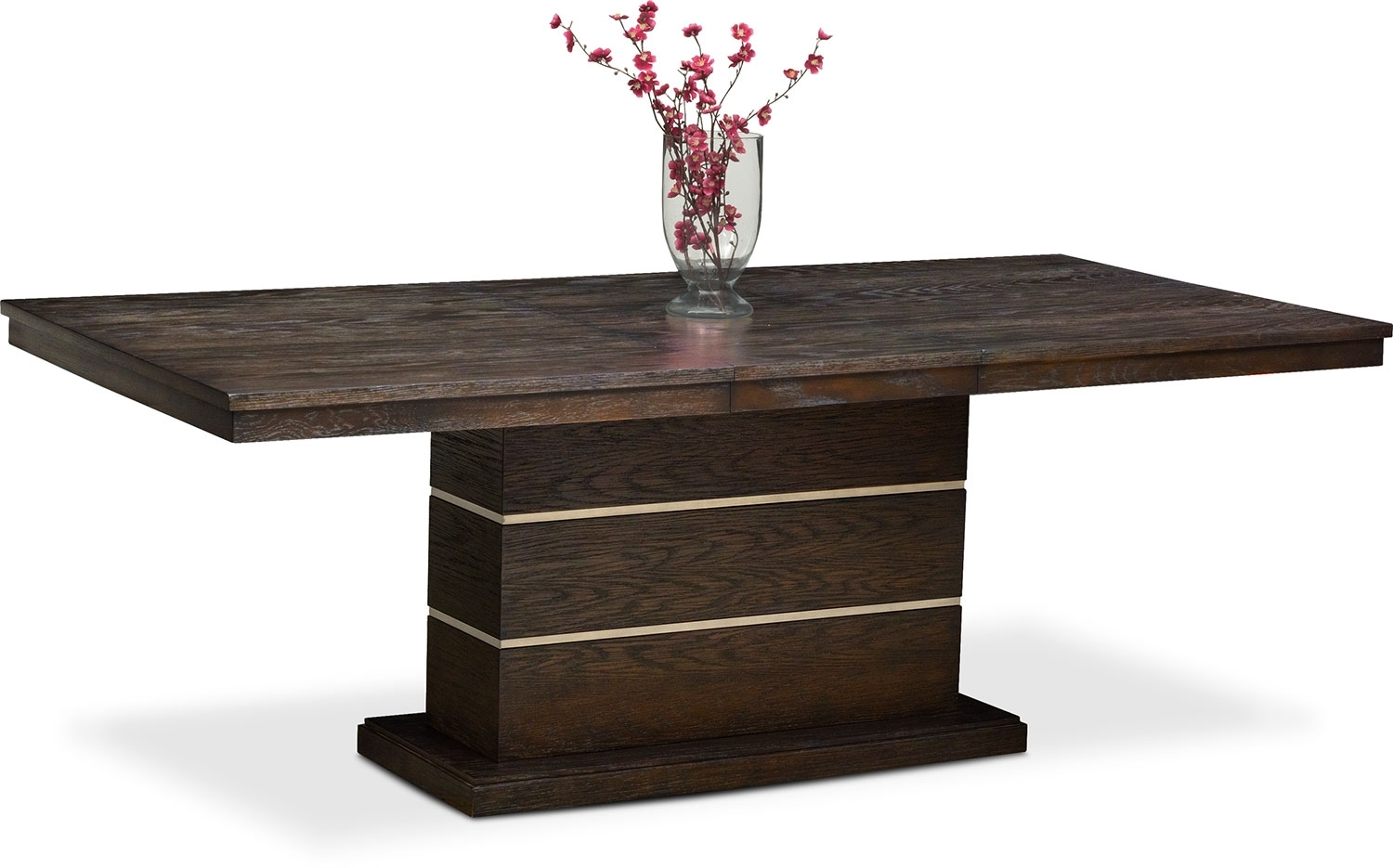 Gavin Pedestal Table – Brownstone | Value City Furniture And Mattresses With Newest Gavin Dining Tables (Photo 15 of 20)