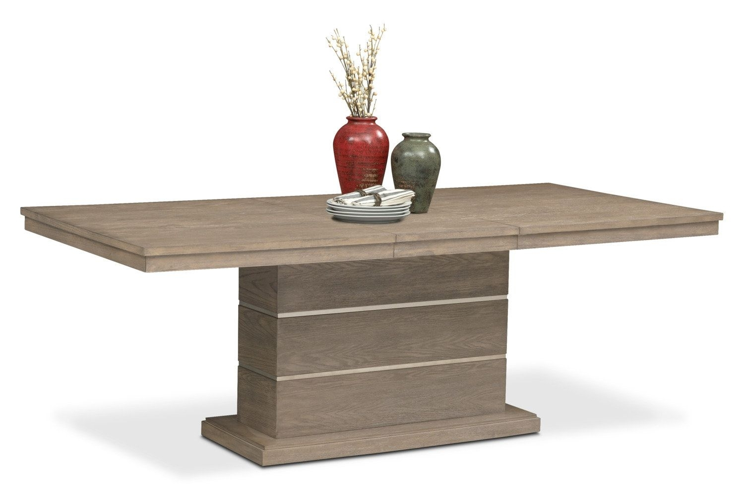 Gavin Pedestal Table – Graystone | Decor // Kitchen | Pinterest Intended For Most Recently Released Gavin Dining Tables (View 13 of 20)
