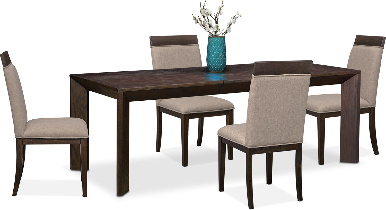 Gavin Table And 4 Side Chairs – Brownstone | Value City Furniture Throughout Current Gavin 7 Piece Dining Sets With Clint Side Chairs (Image 10 of 20)