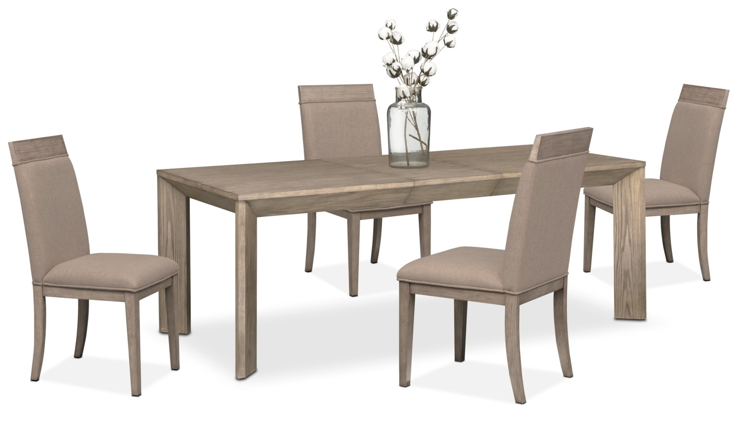 Gavin Table And 4 Side Chairs – Graystone | American Signature Furniture Regarding 2018 Gavin 7 Piece Dining Sets With Clint Side Chairs (Photo 6 of 20)