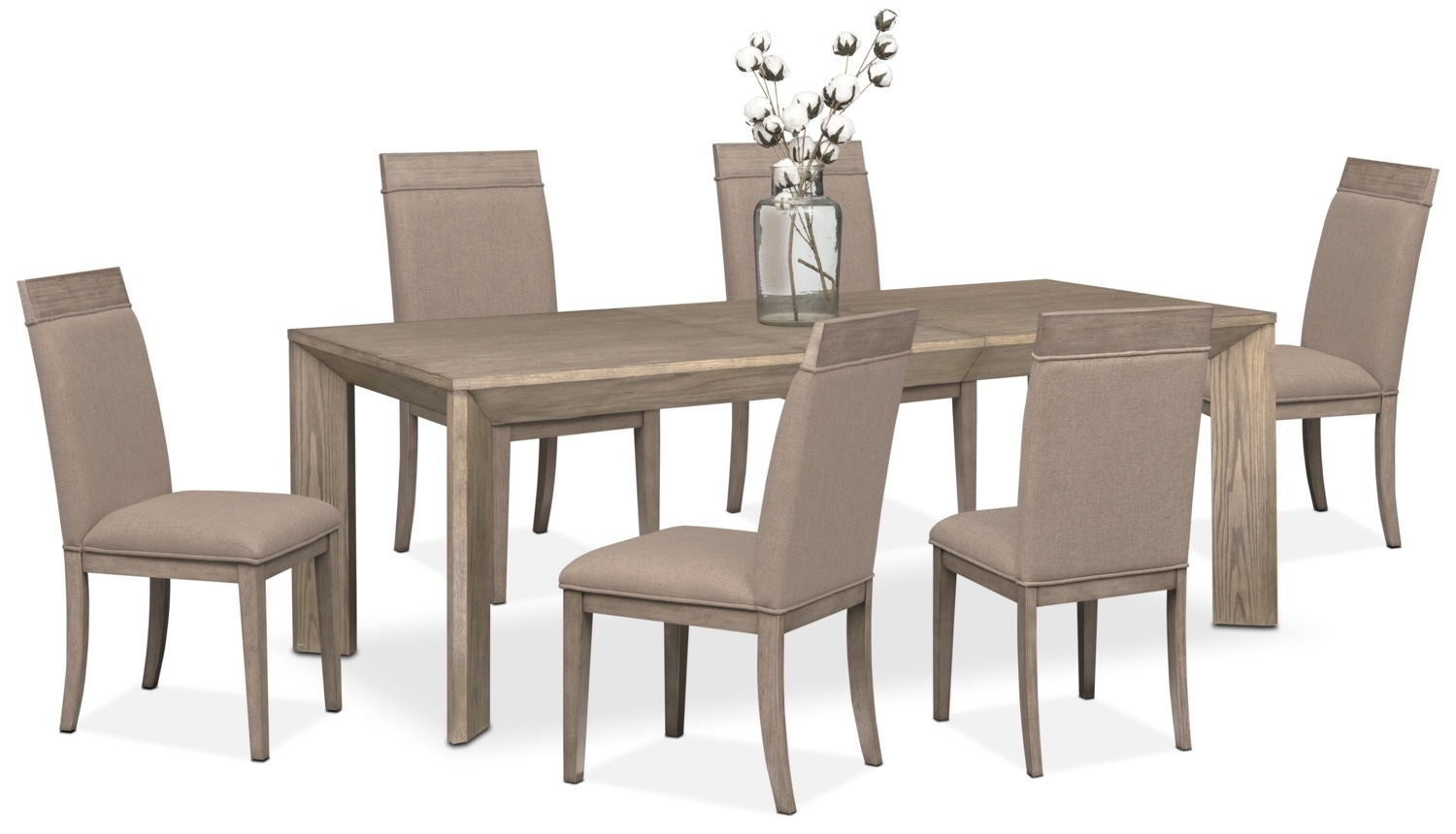 Gavin Table And 6 Side Chairs – Graystone | Value City Furniture And Pertaining To Most Popular Gavin 7 Piece Dining Sets With Clint Side Chairs (Photo 1 of 20)