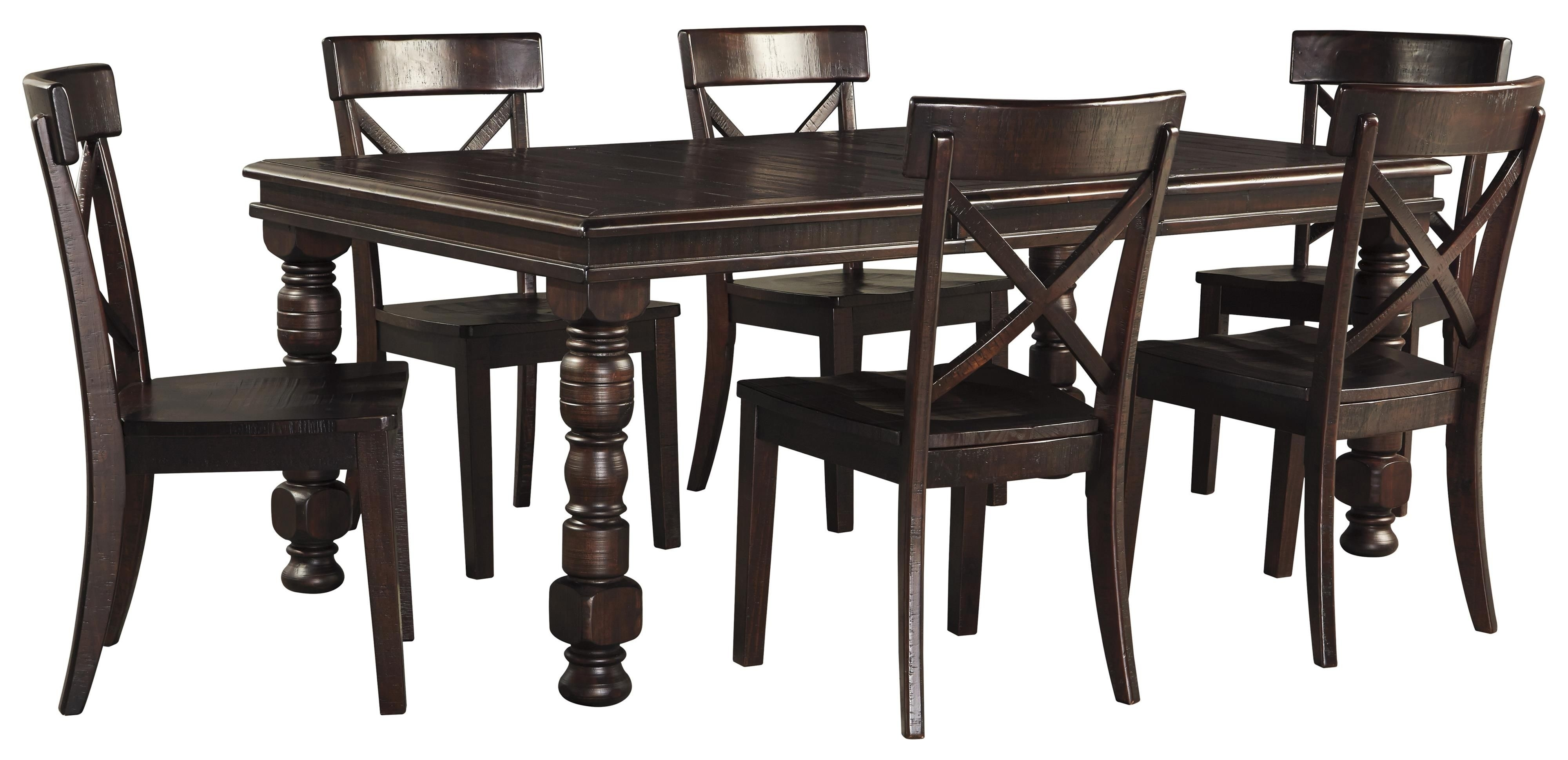 Gerlane 7 Piece Dining Table Setsignature Designashley With Regard To Latest Laurent 7 Piece Rectangle Dining Sets With Wood Chairs (Image 13 of 20)