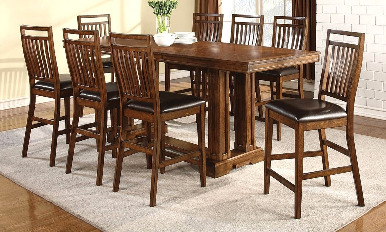 Get Ready For The Holidays With One Of Our New Dining Table Sets With Latest Rocco 9 Piece Extension Counter Sets (Image 6 of 20)
