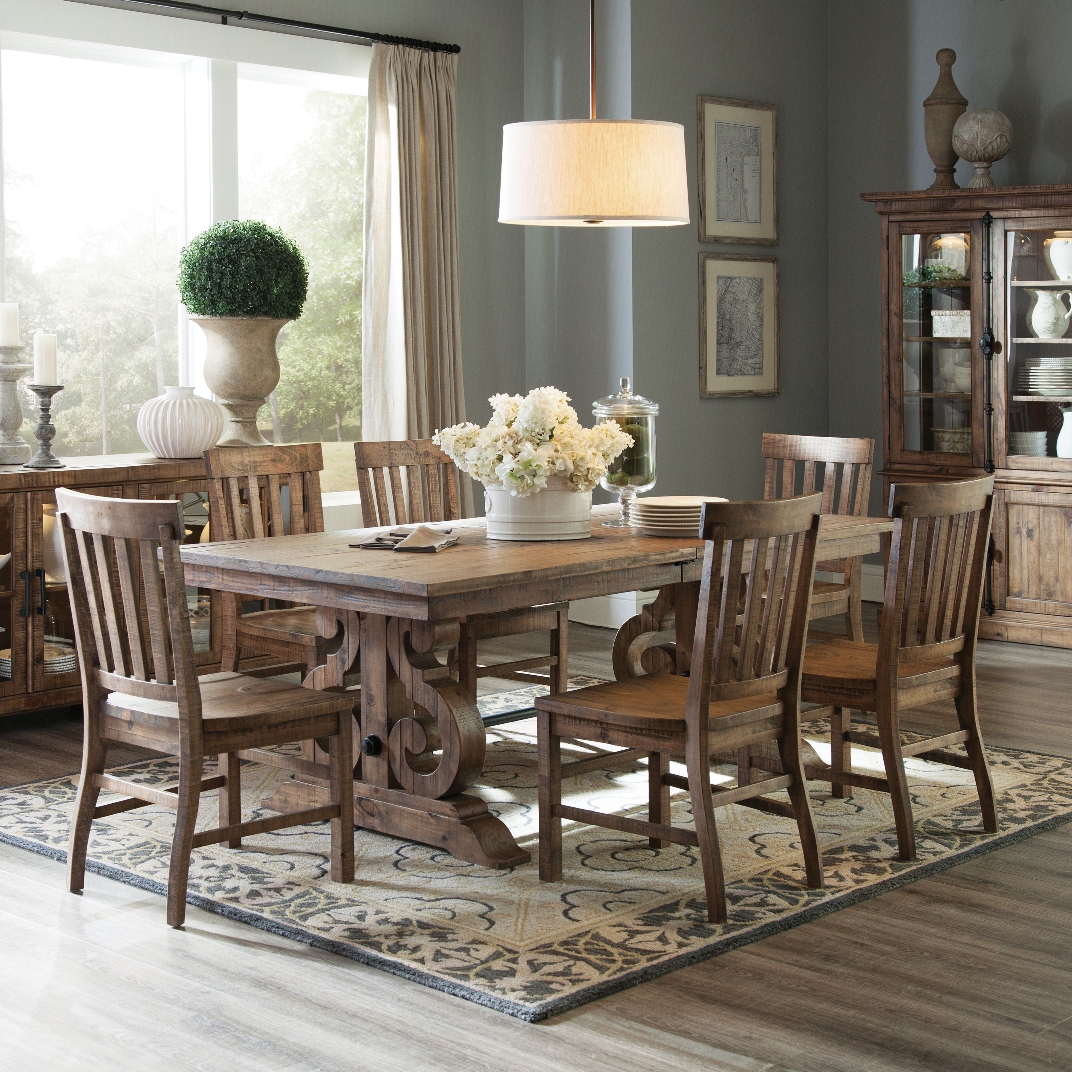 Gracewood Hollow Aldous Rectangular Wood Dining Table In Weathered Regarding 2017 Artisanal Dining Tables (View 12 of 20)