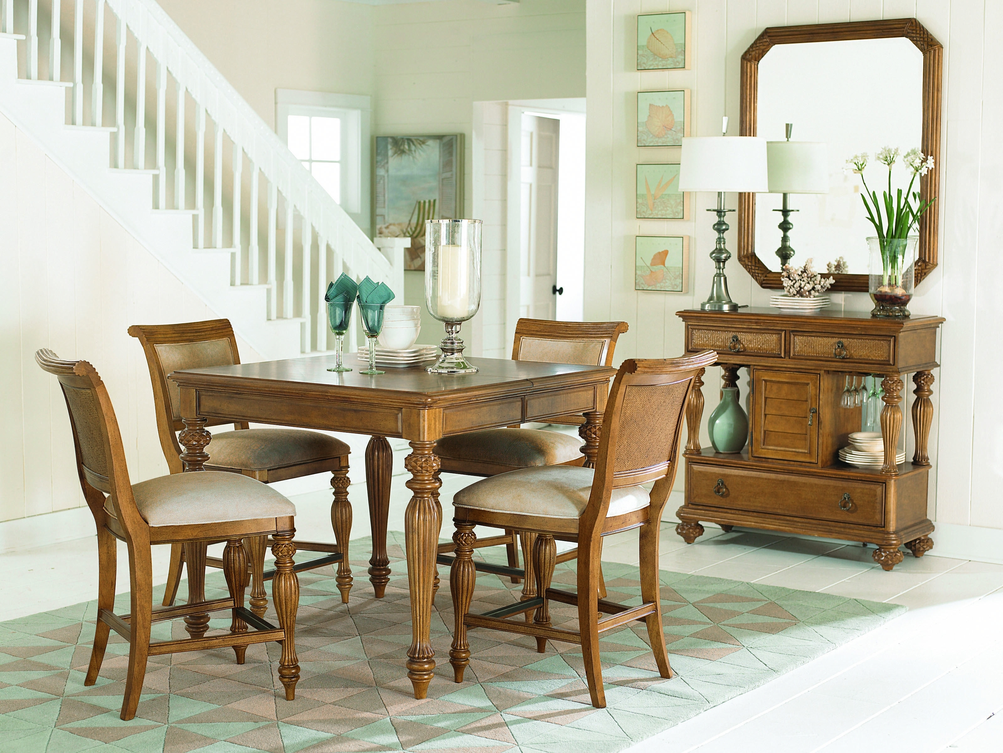 Grand Isle Collection – Rectangle Leg Table #diningtable #grandisle With Most Popular Craftsman 7 Piece Rectangle Extension Dining Sets With Side Chairs (Photo 10 of 20)