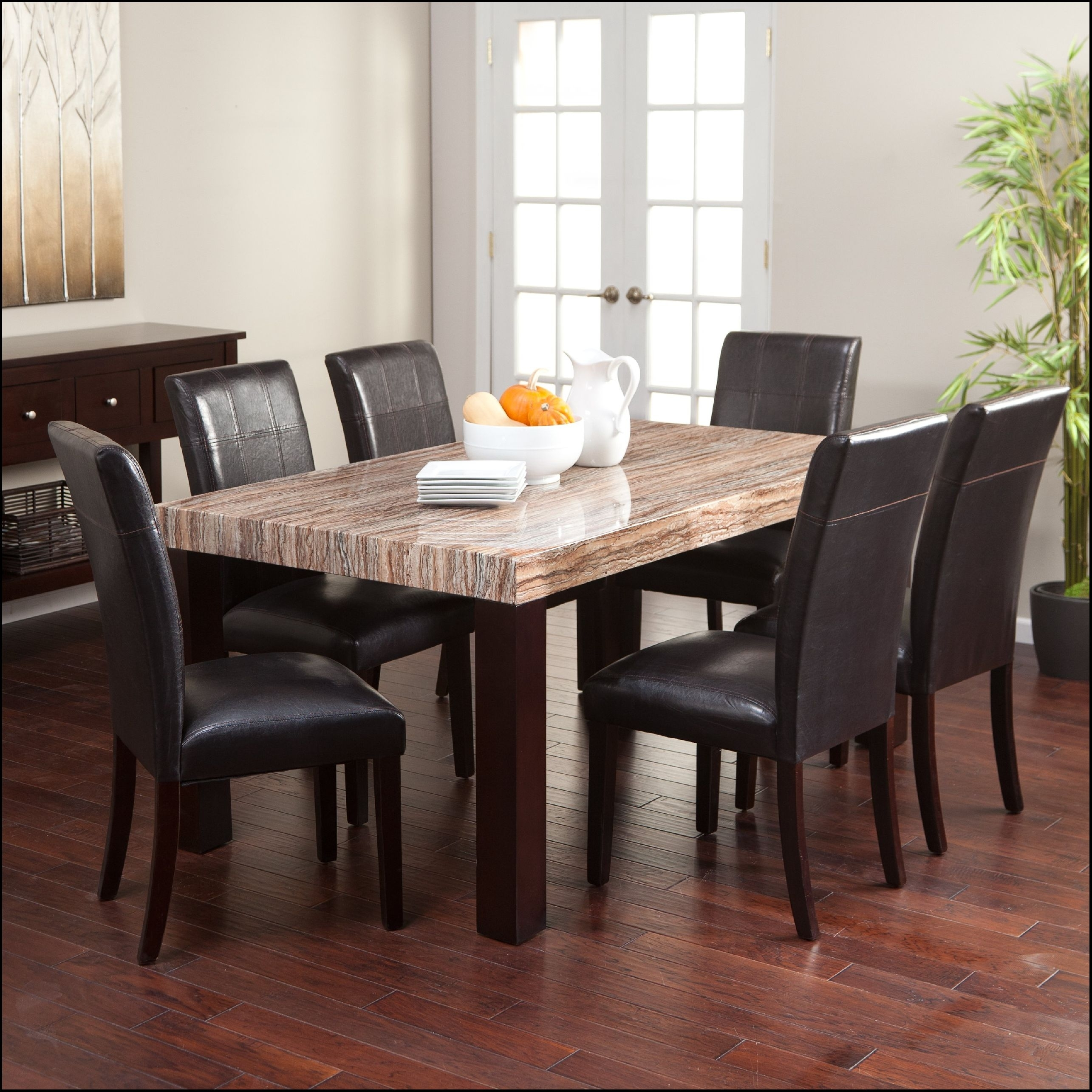 Great Finley Home Palazzo 6 Piece Dining Set With Bench With Looking For 2017 Palazzo Rectangle Dining Tables (Image 7 of 20)